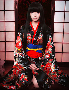 cheap Anime Cosplay-Inspired by Hell Girl Ai Enma Anime Cosplay Costumes Cosplay Suits Lolita Collar Bow Sash / Ribbon Kimono Coat For Women's