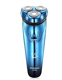 flyco fs336 máquina de barbear elétrica navalha azul carga rápida lavável 100-240v
