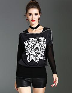 Bluza Ženske,Vintage Ulični šik Sofisticirano Praznik Izlasci Print-Dugih rukava Lađa izrez-Proljeće Jesen Srednje Poliester