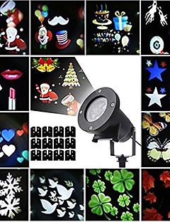 preiswerte Briefkasten Lampen-Weihnachtslaser-Projektor beleuchtet Halloween im Freien Laserlicht führte drehenden Projektor mit 12 austauschbaren bunten Dias