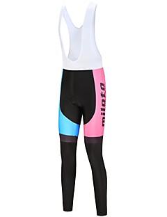 billige Sykkelbukser,Shorts,Strømpebukser, Tights-Miloto Dame Tights med seler til sykling Sykkel Tights Med Seler Hvit / Svart Sykkelklær