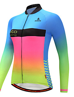 Miloto Cycling Jersey Women's Long Sleeves Bike Jersey Reflective Strip Autumn/Fall Winter Cycling Luminous