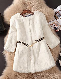 Χαμηλού Κόστους -Γυναικεία Γούνινο παλτό Εξόδου Απλός / Καθημερινό - Μονόχρωμο, Blană Curată