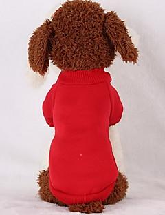 abordables -Chien Pulls à capuche Sweatshirt Vêtements pour Chien Décontracté / Quotidien Solide Noir Rouge Rose Bleu clair Costume Pour les animaux