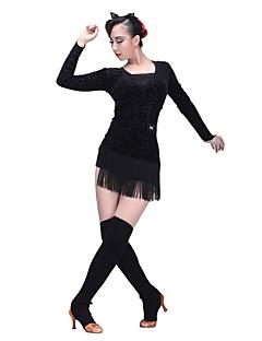 baratos Acessórios de Dança-Dança Latina Meias Finas Mulheres Treino Suéter Meias