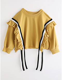 Girls' Solid Blouse,Cotton Fall Long Sleeve