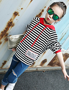 Girls' Striped Print Blouse,Cotton Winter