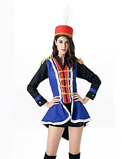 billige Halloweenkostymer-Tryllekunstner ringmaster Sirkus Cosplay Kostumer Maskerade Dame Jul Halloween Karneval Oktoberfest Nytt År Festival / høytid