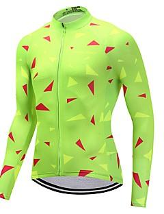 Sykkeljersey Unisex Langermet Sykkel Jersey Fort Tørring Ensfarget Høst Sykling Motorsport Fjellsykkel Vei Sykkel Grønn