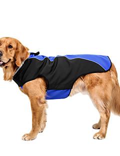 billiga Hundkläder-Hund Kappor Hundkläder Enfärgad Grå Röd Blå Polär Ull Kostym För husdjur Ledigt/vardag Håller värmen Sport