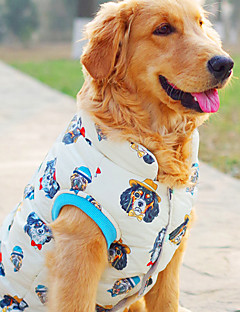 billiga Hundkläder-Hund Väst Hundkläder Tecknat Beige Polyester Kostym För husdjur Herr / Dam Ledigt / vardag