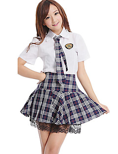 cheap Men's & Women's Halloween Costumes-Student / School Uniform Cosplay Costume Party Costume Women's Girls' Halloween Carnival New Year Festival / Holiday Halloween Costumes