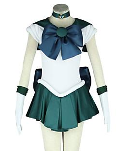 """Inspirert av Sailor Moon Sailor Neptune Anime  """"Cosplay-kostymer"""" Cosplay Klær Lapper Kortermet Kjole Slips Til Kvinnelig"""