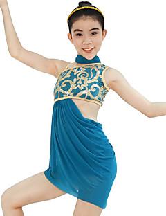 Μπαλέτο Σύνολα Γυναικεία Παιδικά Παράσταση Ελαστικό Λίκρα Πλισέ Παγιέτες Αμάνικο Ψηλό Φορέματα Κοντά Παντελονάκια Neckwear Αξεσουάρ