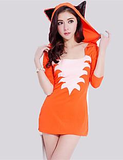 billige Halloweenkostymer-Fox Girl Cosplay Kostumer Maskerade Dame Jul Halloween Karneval Oktoberfest Nytt År Festival / høytid Halloween-kostymer Oransje Helfarge