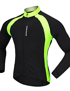 billige Sykkeljerseys-WOSAWE Langermet Sykkeljersey - Svart Sykkel Jersey Polyester