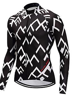cheap Cycling Jerseys-FUALRNY® Cycling Jersey Men's Long Sleeves Bike Jersey Winter Bike Wear High Elasticity Mountain Cycling Road Cycling Cycling Cycling /