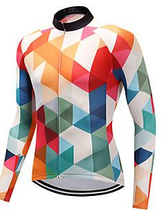 FUALRNY® Biciklistička majica Muškarci Dugih rukava Bicikl Biciklistička majica Quick dry Coolmax LYCRA® Pasti Proljeće Brdski biciklizam