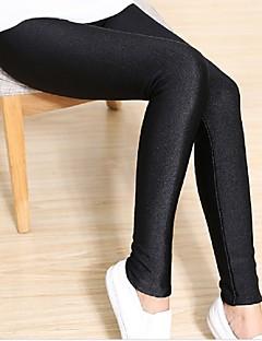 Mulheres Sólido Flanelada Legging
