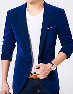 Men's Casual/Daily Work Casual Spring Fall Blazer
