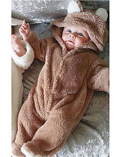Baby Einzelteil Einheitliche Farbe Wollflanell Herbst Winter Lange Ärmel