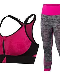 billiga Träning-, jogging- och yogakläder-Sport-BH med joggingbyxor Vadderad Lätt stöd för Yoga - Fuchsia / Blå / Violet t Snabb tork, Mateial som andas, Stretch Dam / Elastisk