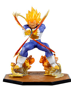 billige Anime cosplay-Anime Action Figurer Inspirert av Dragon Ball Vegeta PVC 15 CM Modell Leker Dukke