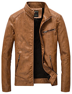 Men's Plus Size Casual/Daily Casual Vintage Fall Winter Jacket