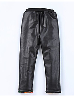 Girls' Solid Pants,Others Winter Black