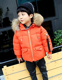 cheap Boys' Jackets & Coats-Boys' Stripe Down & Cotton Padded Winter Long Sleeve Black Orange Army Green