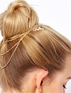 cheap Fashion Headpieces-Women's Alloy Head Chain,Vintage Style Spring/Fall Summer Gold