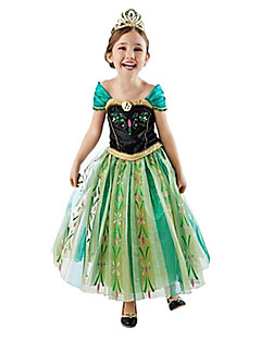 Princess Fairytale Cosplay Costume Movie Cosplay Green Dress Halloween New Year Chiffon Cotton