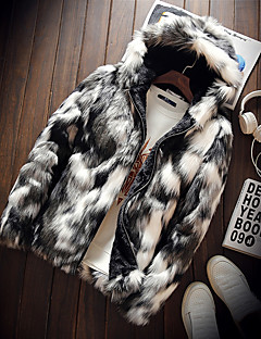 Men's Going out Daily Street chic Winter Fur Coat