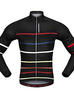 billige Sykkeljerseys-WOSAWE Langermet Sykkeljersey - Svart Sykkel Jersey Polyester / Elastisk