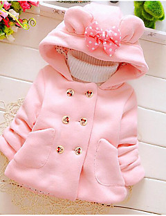Girls' Solid Down & Cotton Padded Winter Fall Red Blushing Pink Light Blue
