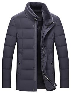 Herren Mantel Einfach Lässig/Alltäglich Solide-Polyester Langarm