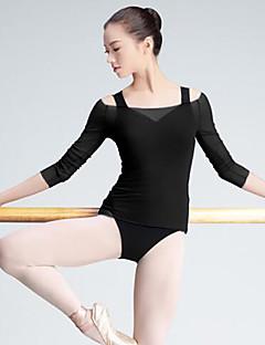 バレエ トップス 女性用 ダンスパフォーマンス チュール 3/4スリーブ トップス