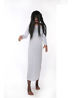 billige Halloweenkostymer-Spøkelse Kjoler Dame Halloween De dødes dag Festival / høytid Halloween-kostymer Hvit Rød Vintage