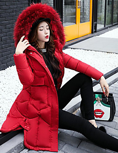 Women's Padded Coat,Casual Daily Solid-Polyester Polypropylene Long Sleeves
