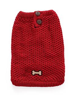 犬 セーター 犬用ウェア カジュアル/普段着 ボーン レッド ブルー