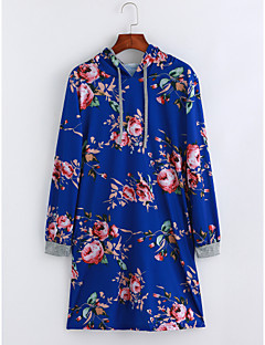 cheap Women's Dresses-Women's Chinoiserie Loose Tunic Dress - Floral