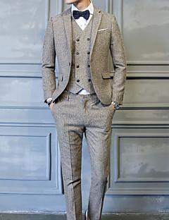 Herren Solide Einfach Lässig/Alltäglich Anzug,Gekerbtes Revers Herbst Winter Lange Ärmel Standard Polyester