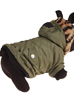 baratos -Cachorro Casacos Roupas para Cães Casual Leopardo Verde Ocasiões Especiais Para animais de estimação