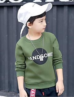 Poikien Yhtenäinen T-paita Puuvilla Spandex Kevät Syksy