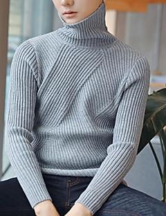 tanie Męskie swetry i swetry rozpinane-Męskie Golf Pulower Solidne kolory Długi rękaw