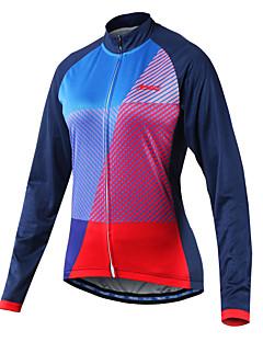 billige Sykkelklær-Arsuxeo Dame Langermet Sykkeljersey - Blå Sykkel Jersey, Refleksbånd