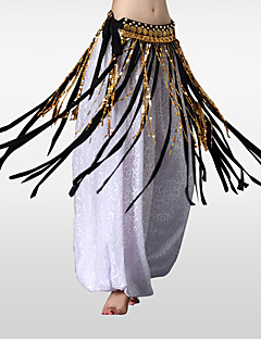 cheap Dance Accessories-Belly Dance Hip Scarves Women's Training Polyester Sequined Metal Tassel Hip Scarf