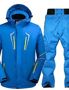 Heren Ski-jack & broek Warm waterdicht Winddicht Draagbaar Antistatisch Ademend Skiën Milieuvriendelijk Polyester