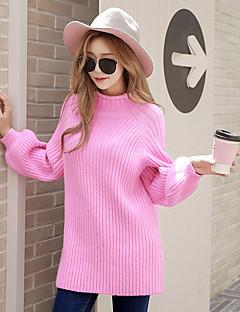baratos Suéteres de Mulher-Mulheres Para Noite Activo Luva Lantern Pulôver - Sólido, Tricôt / Gola Alta