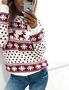 Χαμηλού Κόστους Chic Sweaters Sale-Γυναικεία Μακρυμάνικο Φανάρι μανίκι Ζακέτα - Μονόχρωμο, Ριγέ
